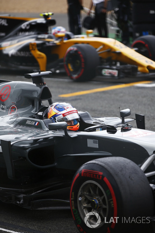 Romain Grosjean, Haas F1 Team, Jolyon Palmer, Renault Sport F1 Team