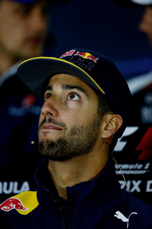 Daniel Ricciardo, Red Bull Racing in the Drivers Press Conference