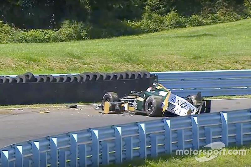 Josef Newgarden, Ed Carpenter Racing Chevrolet, kaza