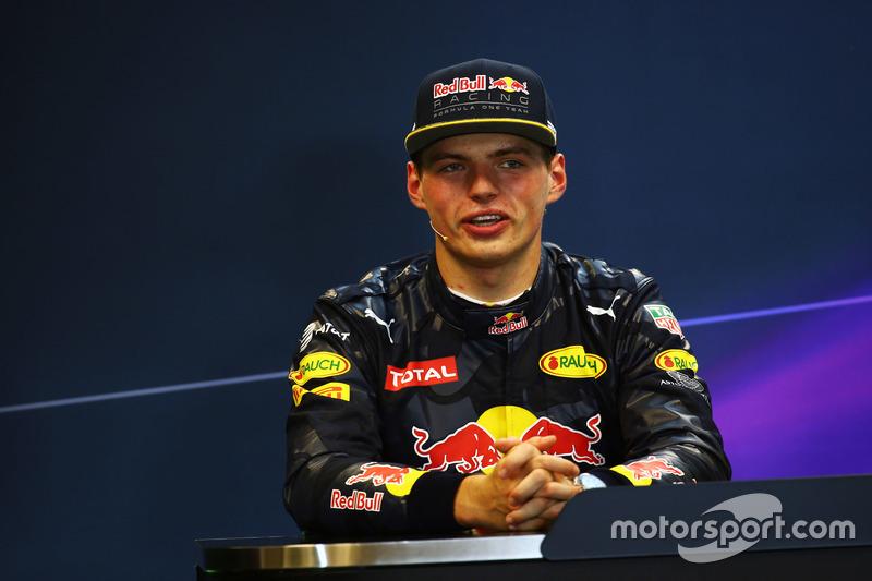 Max Verstappen, Red Bull Racing nella conferenza stampa FIA