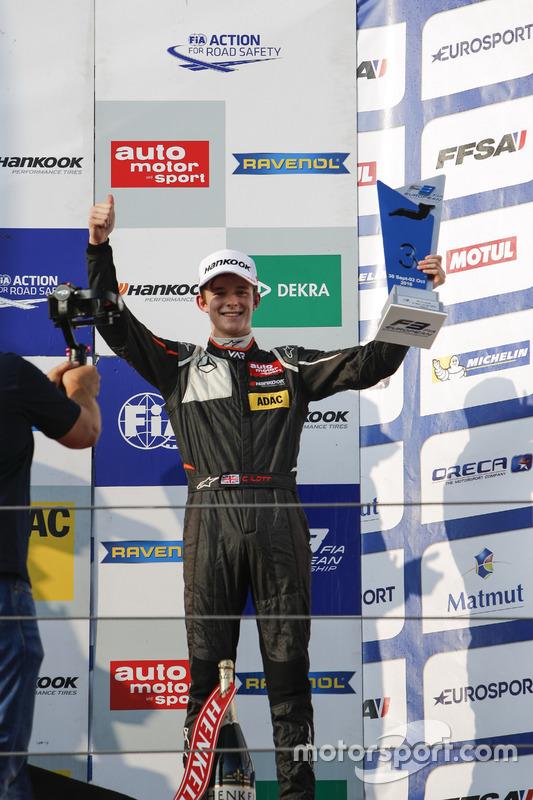 Podium: Callum Ilott, Van Amersfoort Racing Dallara F312 – Mercedes-Benz
