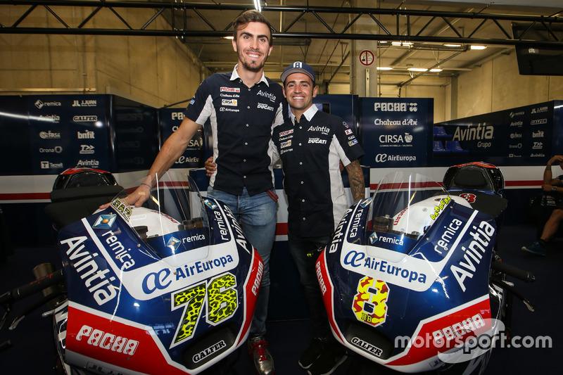 Loris Baz e Hector Barbera, Avintia Racing, Ducati