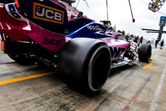 Sergio Perez, Racing Point RP19, sort de ses stands