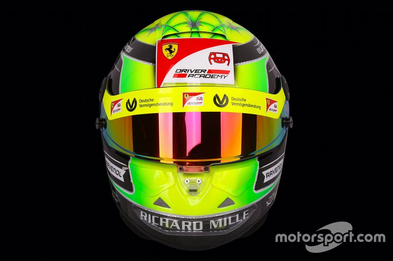Mick Schumacher helmet unveil