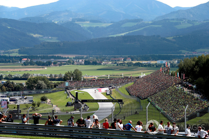 Vue surplombant le Red Bull Ring