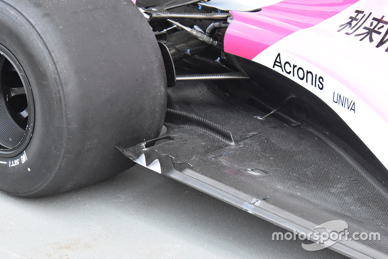 Racing Point Force India, dettaglio del fondo