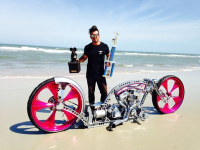 Tarso Marques custom bike presentation