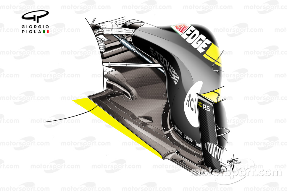 Renault F1 Team R.S.20 floor 2021