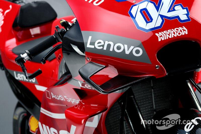 Gros plan sur la Ducati Desmosedici GP19