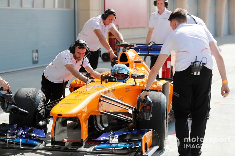 Jimmie Johnson in de McLaren