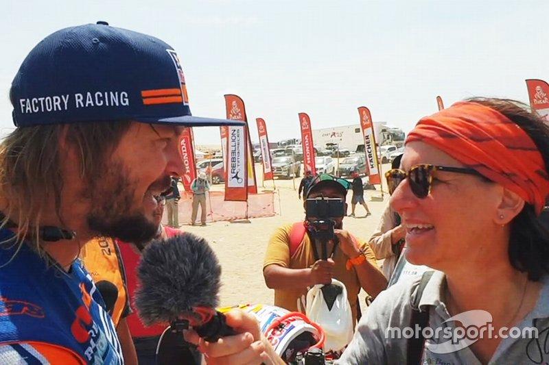 Ellen Lohr con Toby Price
