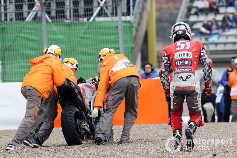 Michele Pirro, Ducati team caída