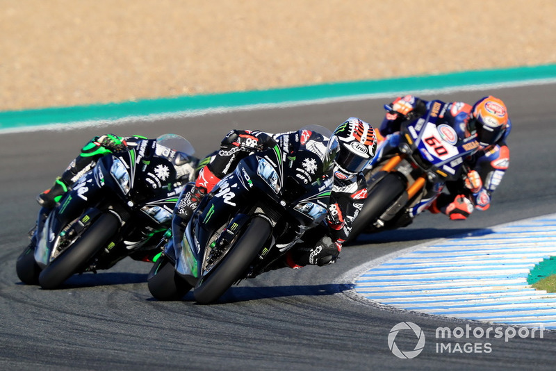 Jonathan Rea, Kawasaki Racing, Leon Haslam, Kawasaki Racing, Michael van der Mark, Pata Yamaha