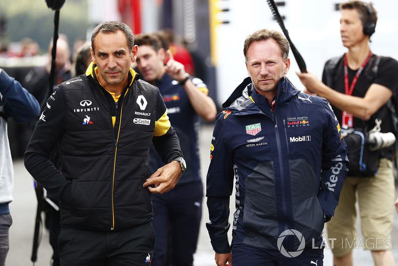 Cyril Abiteboul, director de Renault Sport F1 Team y Christian Horner, Team Principal, Red Bull Racing