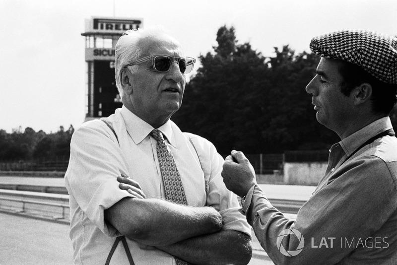 Enzo Ferrari y Bernard Cahier