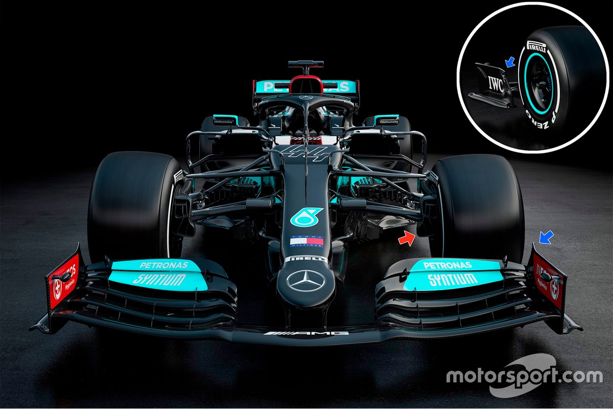 Mercedes AMG F1 W12 front details