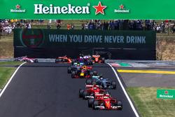 Sebastian Vettel, Ferrari SF70-H leads