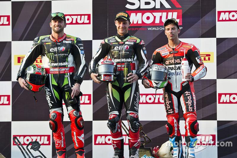 Podium: 1. Jonathan Rea, Kawasaki Racing; 2. Tom Sykes, Kawasaki Racing; 3. Marco Melandri, Ducati Team