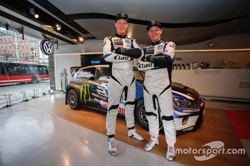 Petter Solberg y Johan Kristoffersson, PSRX Volkswagen Sweden, VW Polo GTi