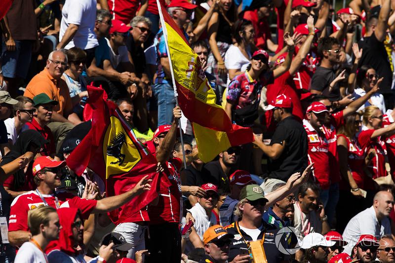Ferrari fans in the crowd