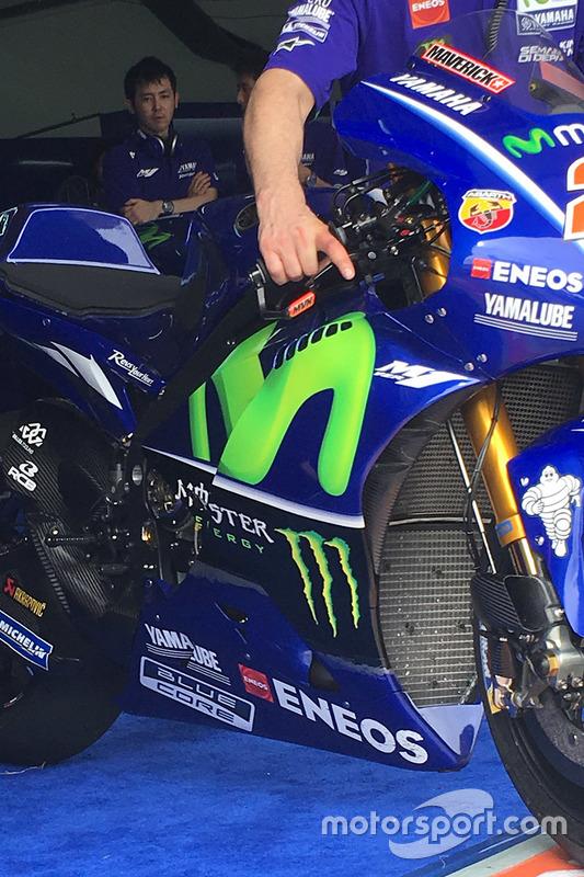 Detail, Bike von Maverick Viñales, Yamaha Factory Racing