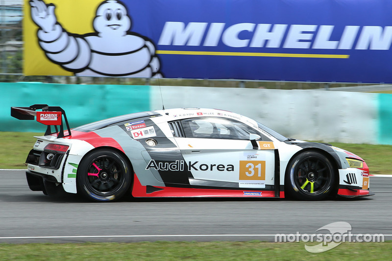 #31 Team Audi Korea, Audi R8 LMS GT3: Kyong Ouk You, Marchy Lee, Alex Yoong