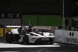 Sebastian Vettel, driving the KTM X-Bow Comp R on track