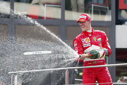 Podium: Michael Schumacher, Ferrari