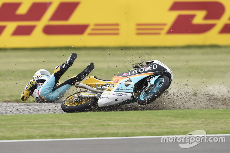 Accidente de Juanfran Guevara, RBA Racing Team