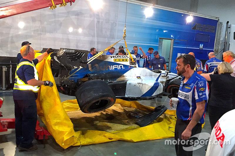 El coche chocado de Esteban Gutiérrez, Dale Coyne Racing Honda