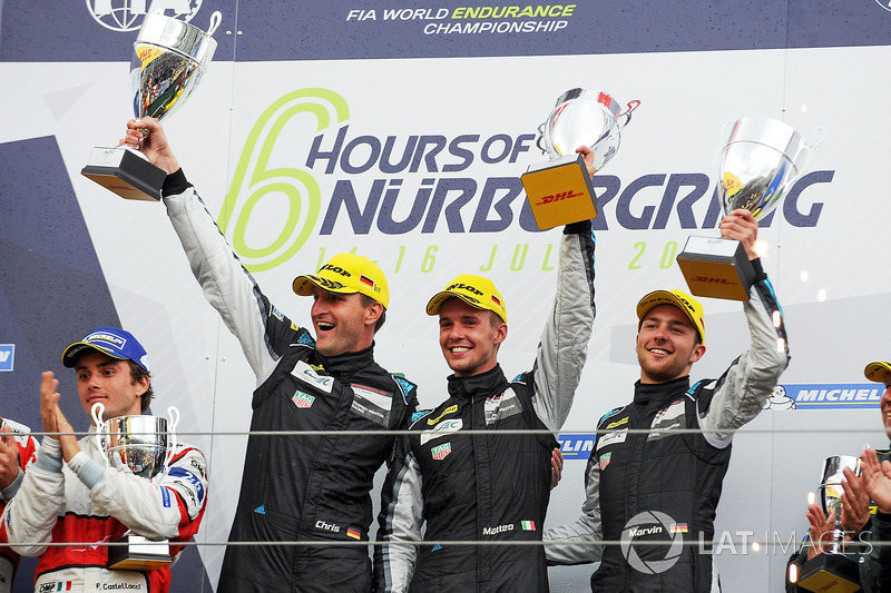 LMGTE Am Podio: primer lugar Christian Ried, Matteo Cairoli, Marvin Dienst, Dempsey Proton Competition