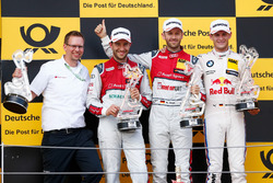 Podium: Race winner René Rast, Audi Sport Team Rosberg, Audi RS 5 DTM, second place Mike Rockenfeller, Audi Sport Team Phoenix, Audi RS 5 DTM, third place Marco Wittmann, BMW Team RMG, BMW M4 DTM