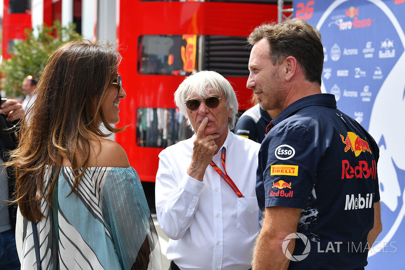 Берні та Фабіана Екклстоун, керівник Red Bull Крістіан Хорнер