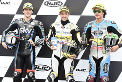 Qualifying top three: second place Francesco Bagnaia, Sky Racing Team VR46, polesiiter Thomas Luthi,