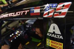 Calcomanía de Nicky Hayden en el coche de Chase Elliott, Hendrick Motorsports Chevrolet