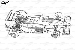 Подробная схема Ferrari 126C4 1984 года