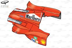 Ferrari F399 sidepod and engine cover bodywork - San Marino GP