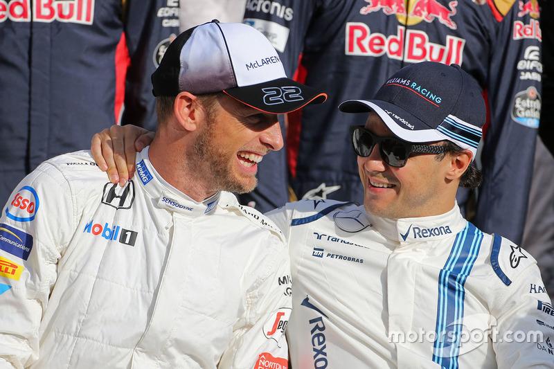 Jenson Button, McLaren F1 y Felipe Massa, Williams F1 Team