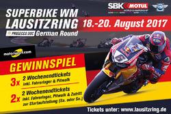 Gewinnspiel: Superbike-WM 2017 am Lausitzring