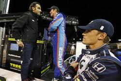 Dario Franchitti, Scott Dixon, Chip Ganassi Racing Honda and Max Chilton, Chip Ganassi Racing Honda