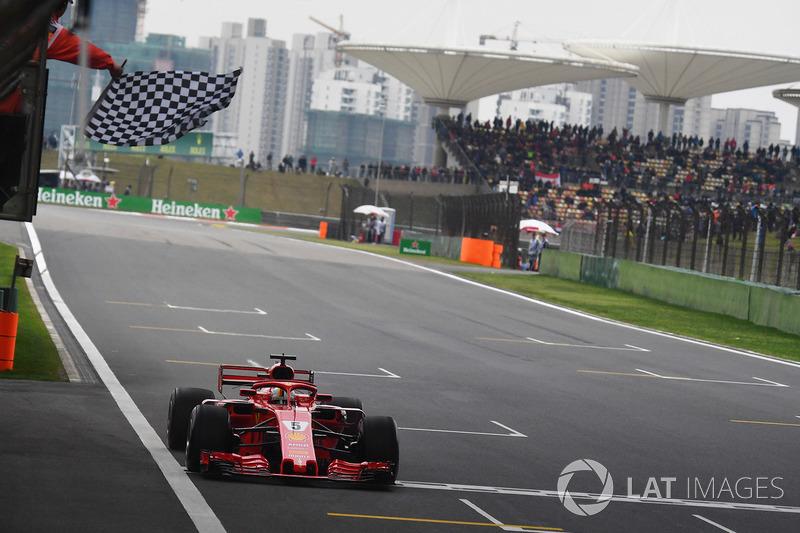 Peraih pole Sebastian Vettel, Ferrari