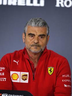 Maurizio Arrivabene, directeur de Ferrari, en conférence de presse