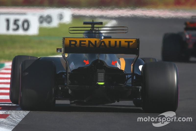 Renault RS17: Gurney-Flap am Heck