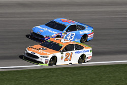 Ryan Blaney, Wood Brothers Racing Ford, Aric Almirola, Richard Petty Motorsports Ford
