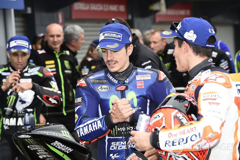 Segundo, Maverick Viñales, Yamaha Factory Racing, Marc Márquez, Repsol Honda Team