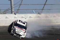Crash: Brad Keselowski, Team Penske Ford Fusion