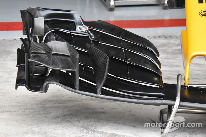 Renault Sport F1 Team RS17 neus en voorvleugel