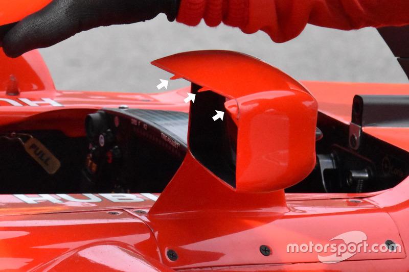 Espejos del Ferrari SF71H