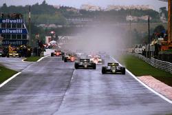 Ayrton Senna, Lotus 97T lidera el inicio