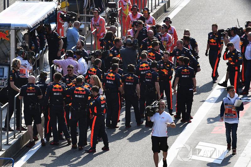 Red Bull Racing fête sa victoire